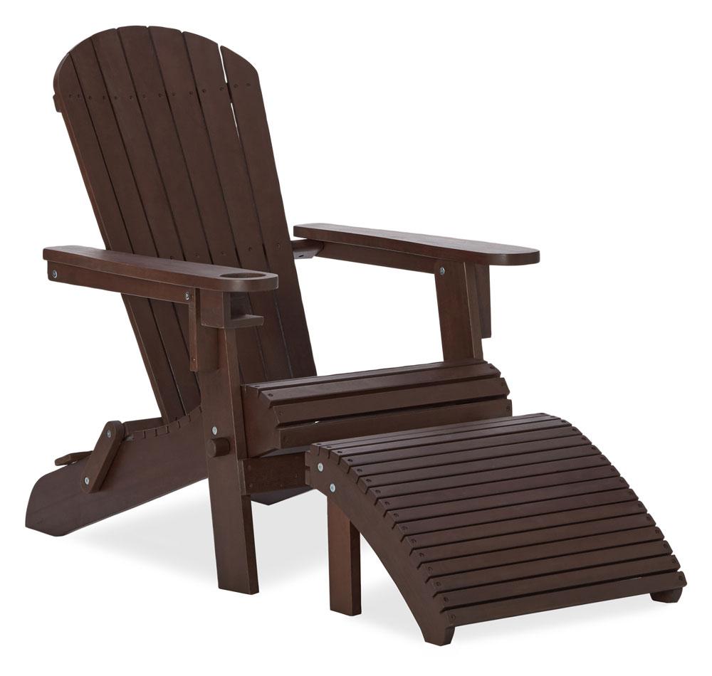 Strathwood basics adirondack chaise de jardin avec porte gobelet marron fonc jardin for Fauteuil de jardin canadien