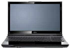 Front shot of the Fujitsu LIFEBOOK AH532 with lip open