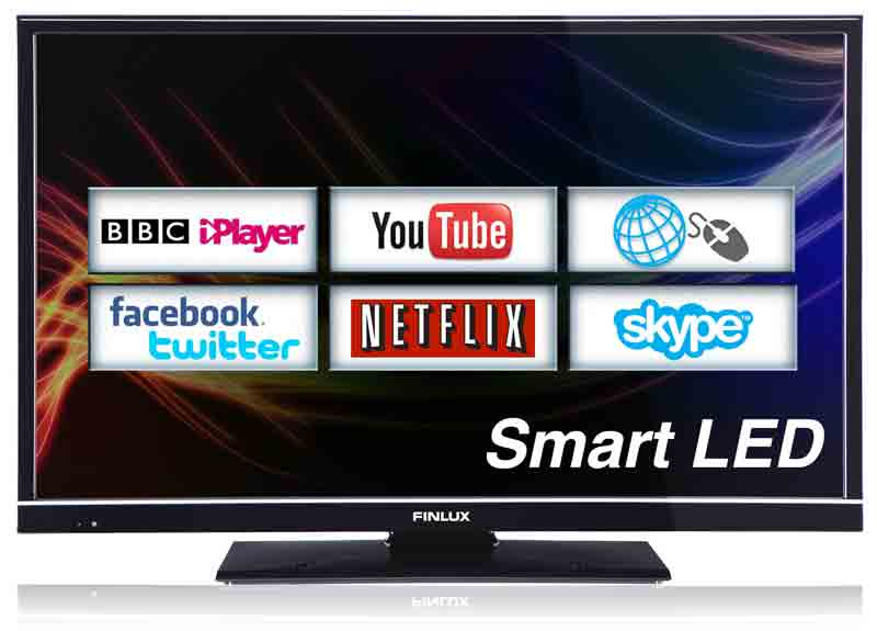 Finlux 32F8072-T 32 Inch Smart LED Full HD 1080p TV with Web Browsing,  Netflix, Skype, Freeview HD & PVR