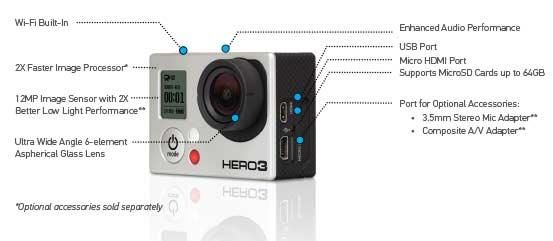 gopro hero 3 edition camcorder black amazon co uk camera photo rh amazon co uk GoPro Hero 3 Black Accessories gopro instruction manual hero 3