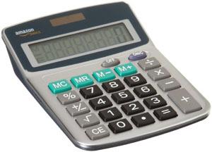 Calculatrice AmazonBasics 8 caractères alimentation solaire/piles