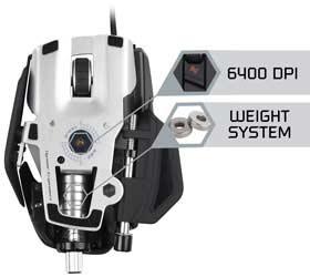 Mad Catz R.A.T. 7 Gaming Mouse - True 6400 DPI Laser Sensor