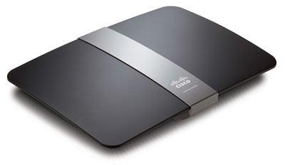 Linksys E4200 Wireless-N Router - top