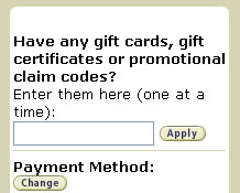 Apply gift certificate