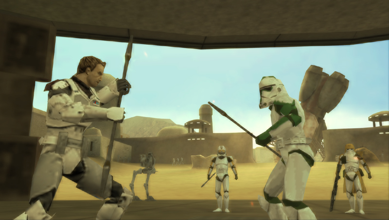 Clone vs clone in Star Wars Battlefront: Elite Squadron for PSP