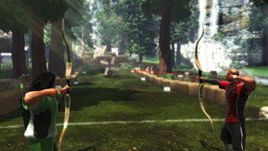 Multiplayer archery event from Sports Champions