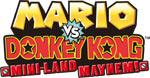 Mario vs. Donkey Kong Mini-Land Mayhem! game logo