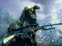 A sniper working in conjuction with a spotter in Sniper: Ghost Warrior for PS3