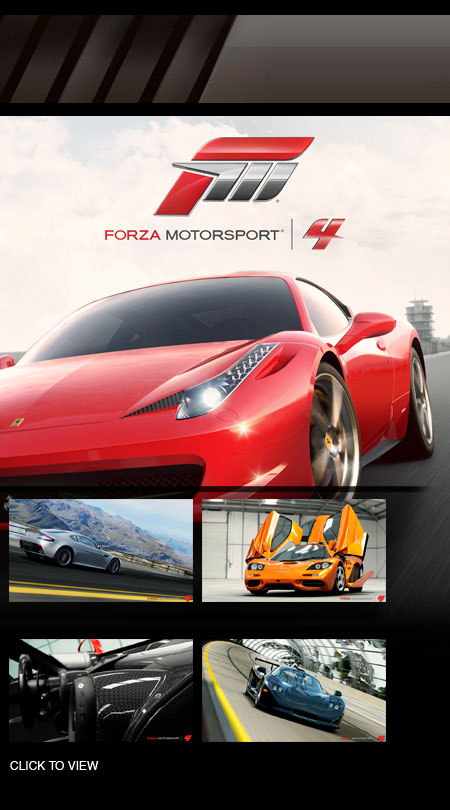 forza motorsport 4 xbox 360 pc video games. Black Bedroom Furniture Sets. Home Design Ideas