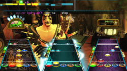 Multiplayer options in 'Guitar Hero: Greatest Hits'