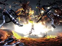 Action explosive dans God of War III