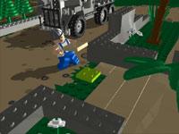 NPC building a level in LEGO Indiana Jones 2: The Adventure Continues