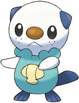 Starter Pokémon Oshawatt from Pokémon Black and Pokémon White