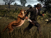 Marston about to become catfood in Red Dead Redemption