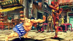 E. Honda and Dhalsim battling in 'Street Fighter IV'