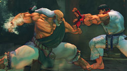 Gouken showing Ryu that he is still the master in 'Street Fighter IV'