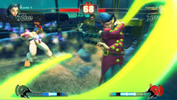 Rose finishing off Ryu in 'Street Fighter IV'