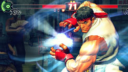 Camera angle change during Ultra Combo by Ryu in 'Street Fighter IV'