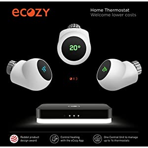ecozy smart home starter kit wlan central unit und 1 heizk rperthermostat set. Black Bedroom Furniture Sets. Home Design Ideas