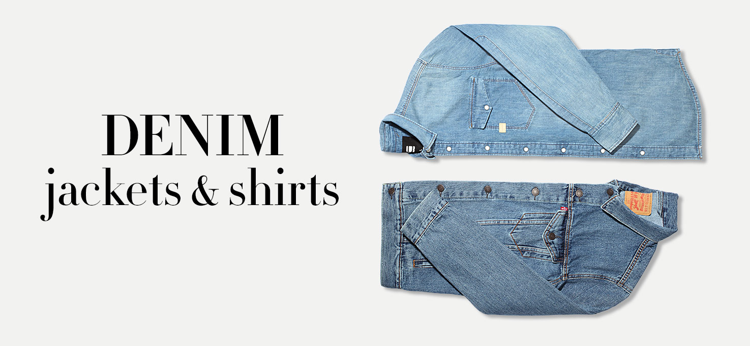 Denim jackets and shirts