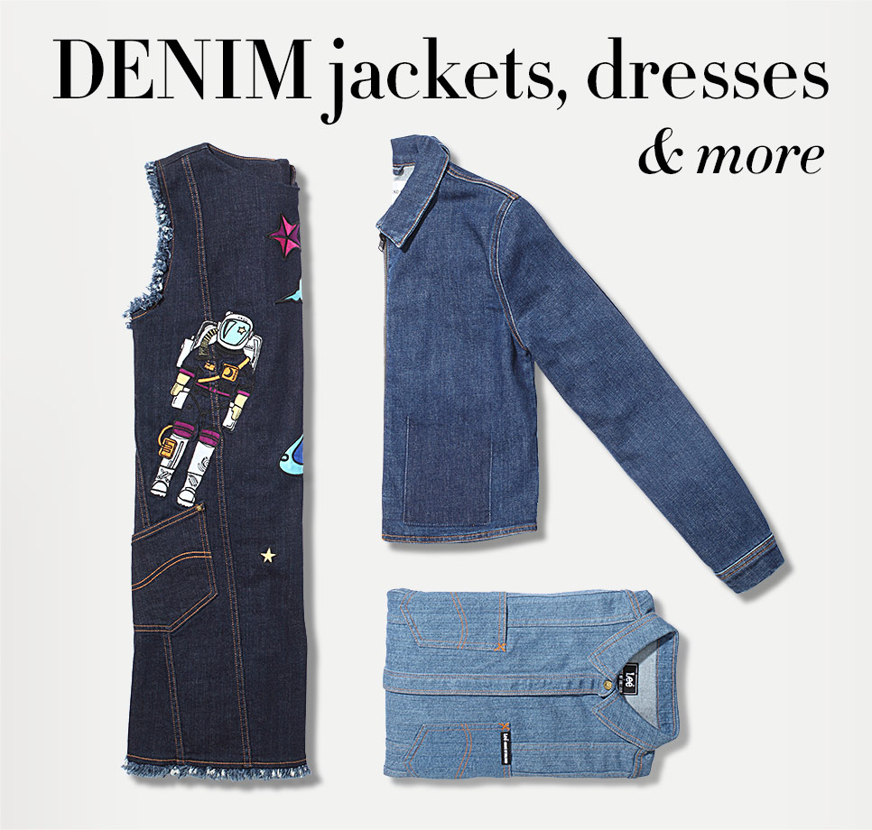 Denim jackets, dresses, skirts & more