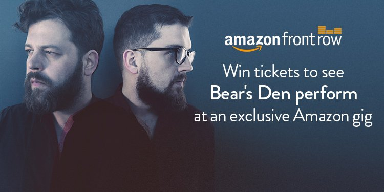 Win tickets to see Bear's Den perform at an exclusive Amazon gig