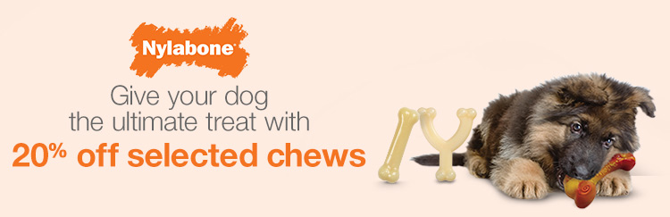 Give your dog the ultimate treat with 20% off selected chews