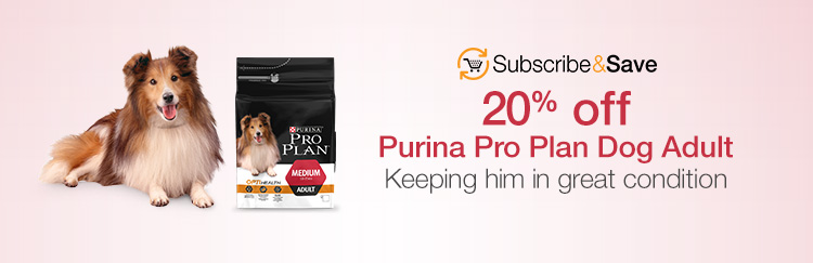 20% off Purina Pro Plan Dog Adult. Keeping him in great condition
