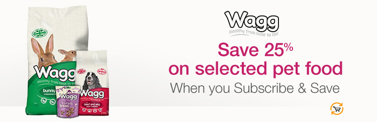 Save 25% on selected pet food when you Subscribe & Save