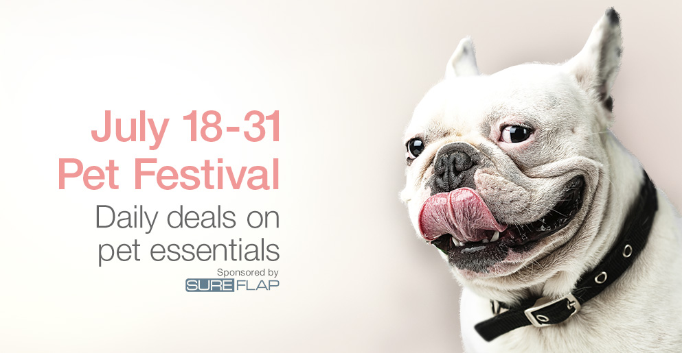 Pet Festival. Daily deals on pet essentials.