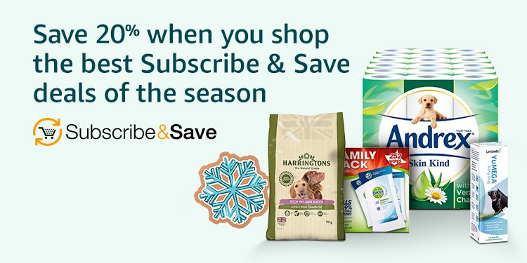 Save 20% when you shop the best subscribe and sace deals of the season