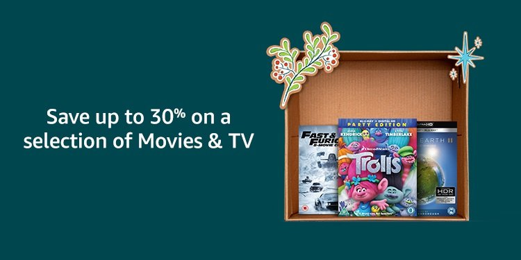Save up to 30% on a selection of movies and TV