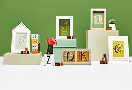 Decorate with Letters & Numbers