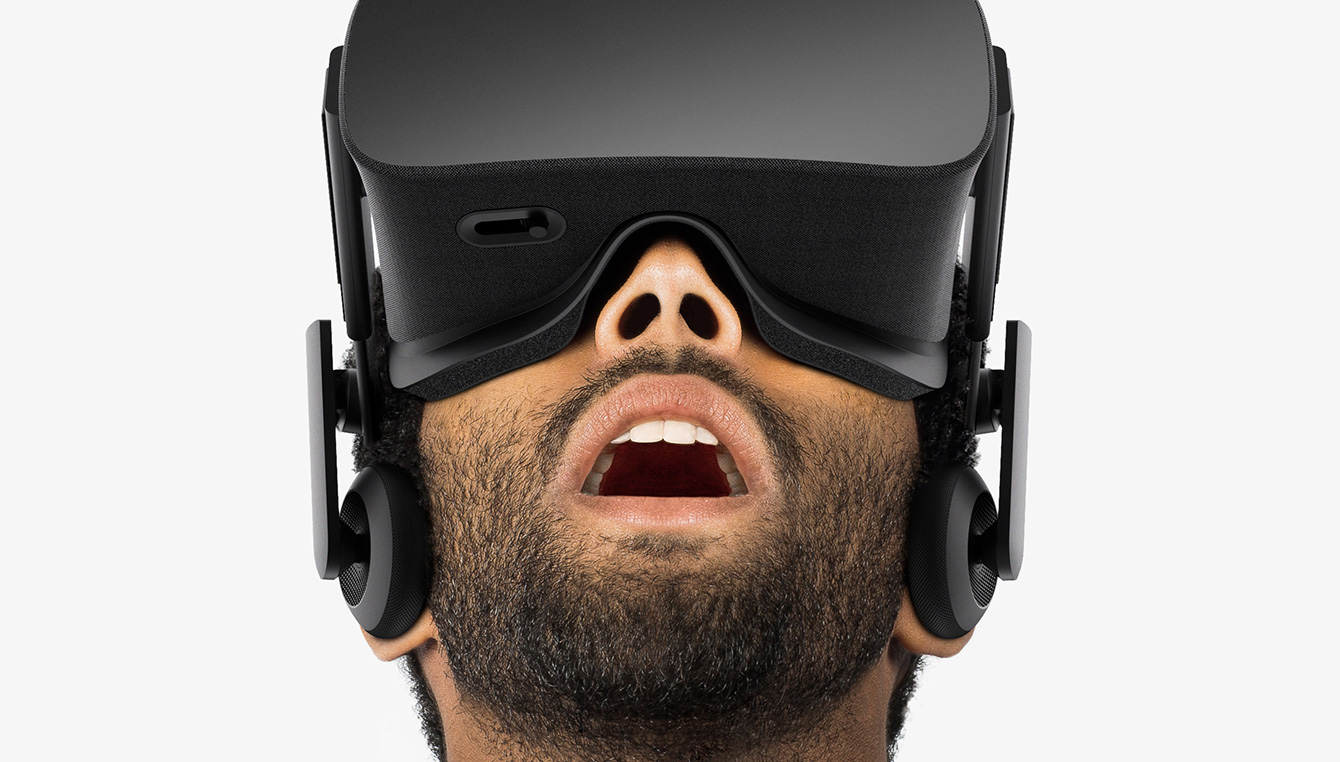 Image of Man Wearing and Oculus Rift Headset
