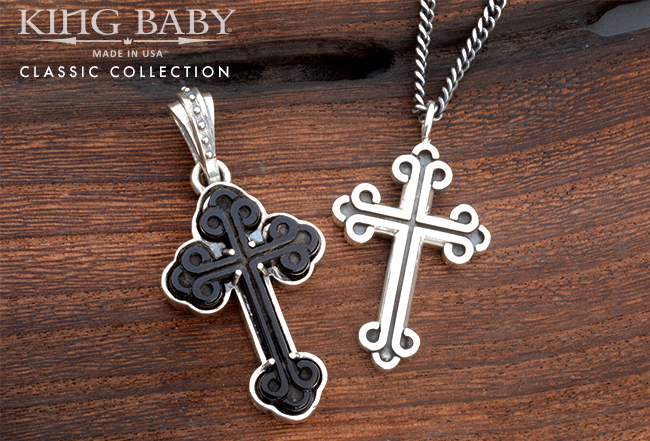 Amazon king baby store jewellery king baby cross necklaces mozeypictures Images