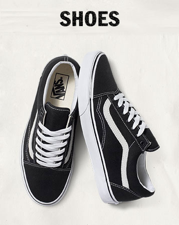 vans girls black white