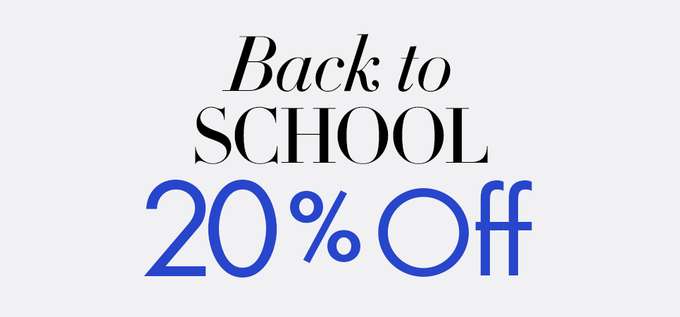 Back to School 20% Off
