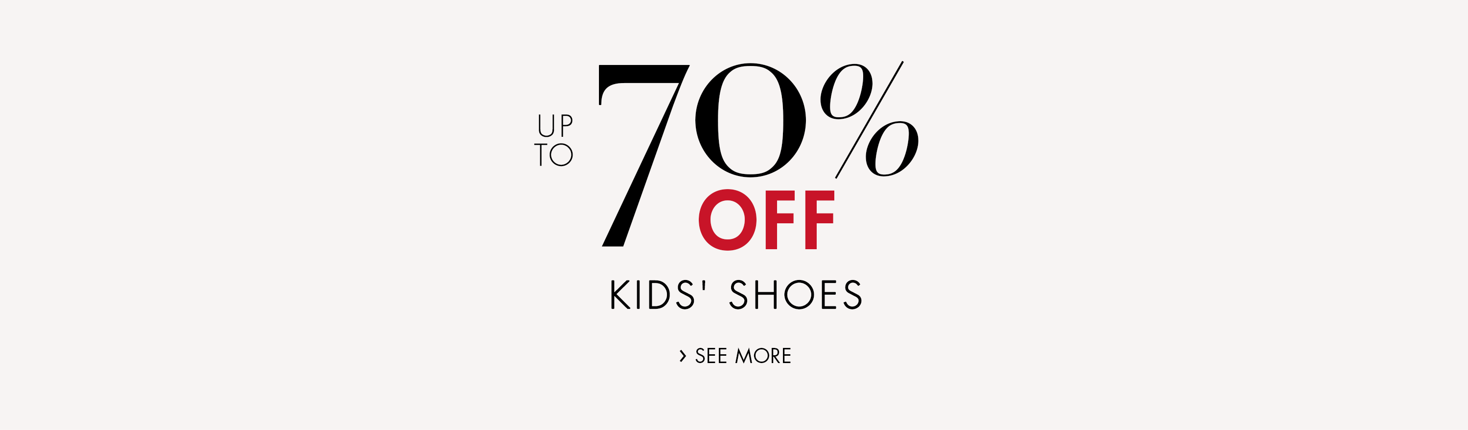 Up to 70% Off Kids' Shoes