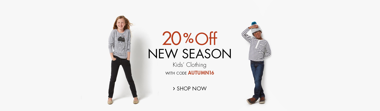 20% Off Boys' Clothing