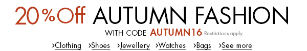 20% Off Autumn Fashion