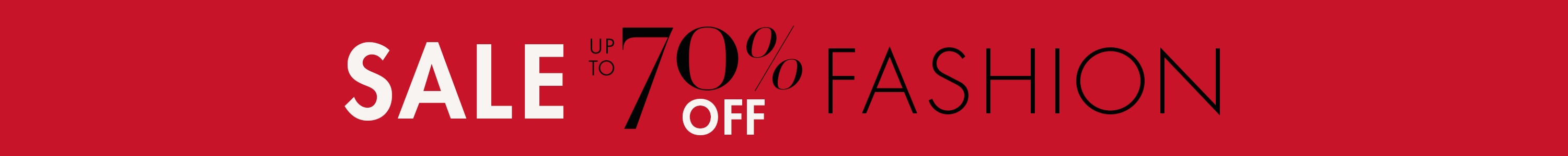 Sale: Up to 70% Off Fashion