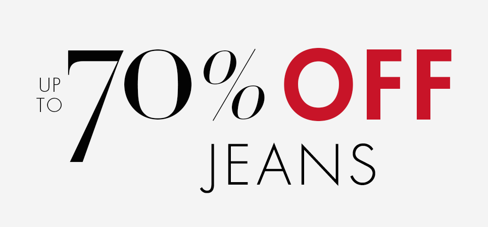 Up to 70% Off Jeans