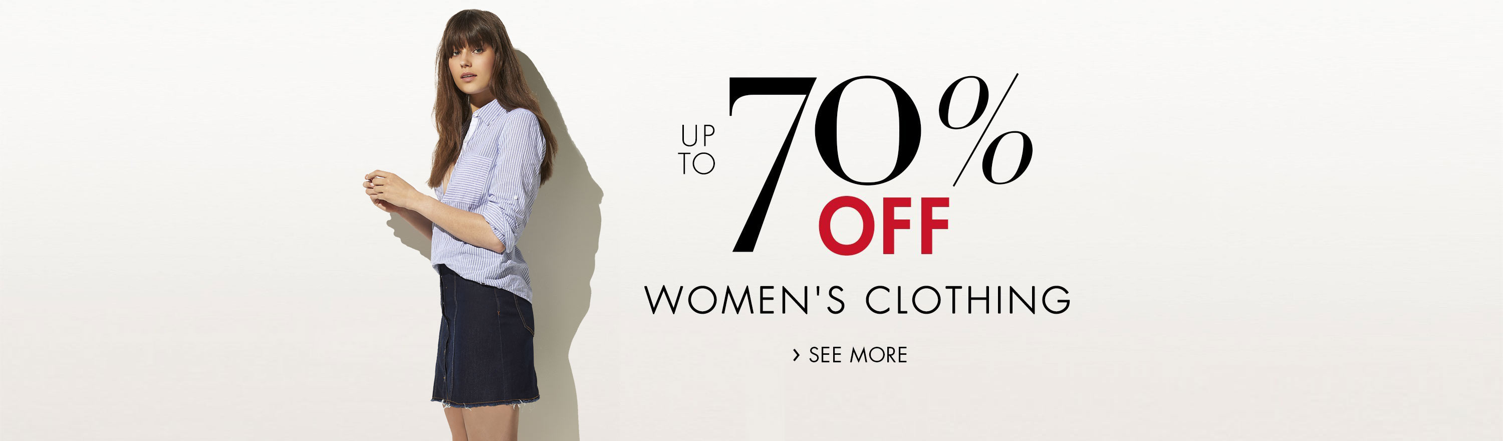 Up to 70% Off Women's Clothing