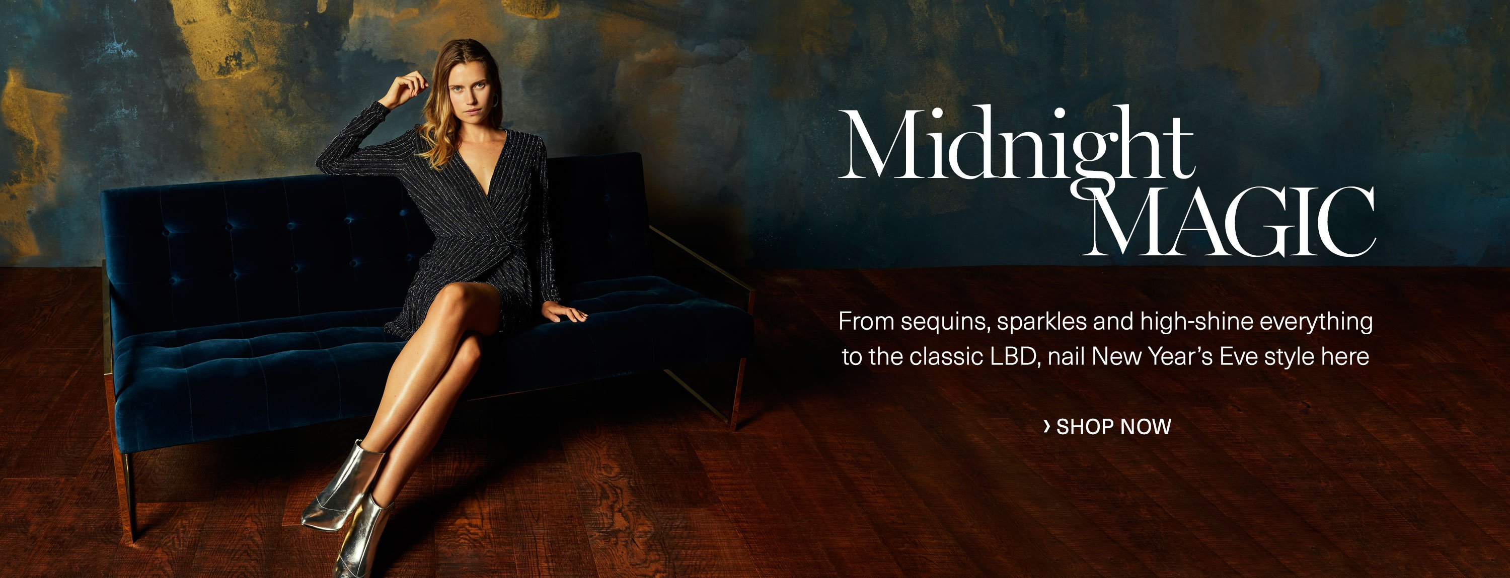 Midnight magic: From sequins, sparkles and high-shine everything to the classic LBD, nail New Year's Eve style here