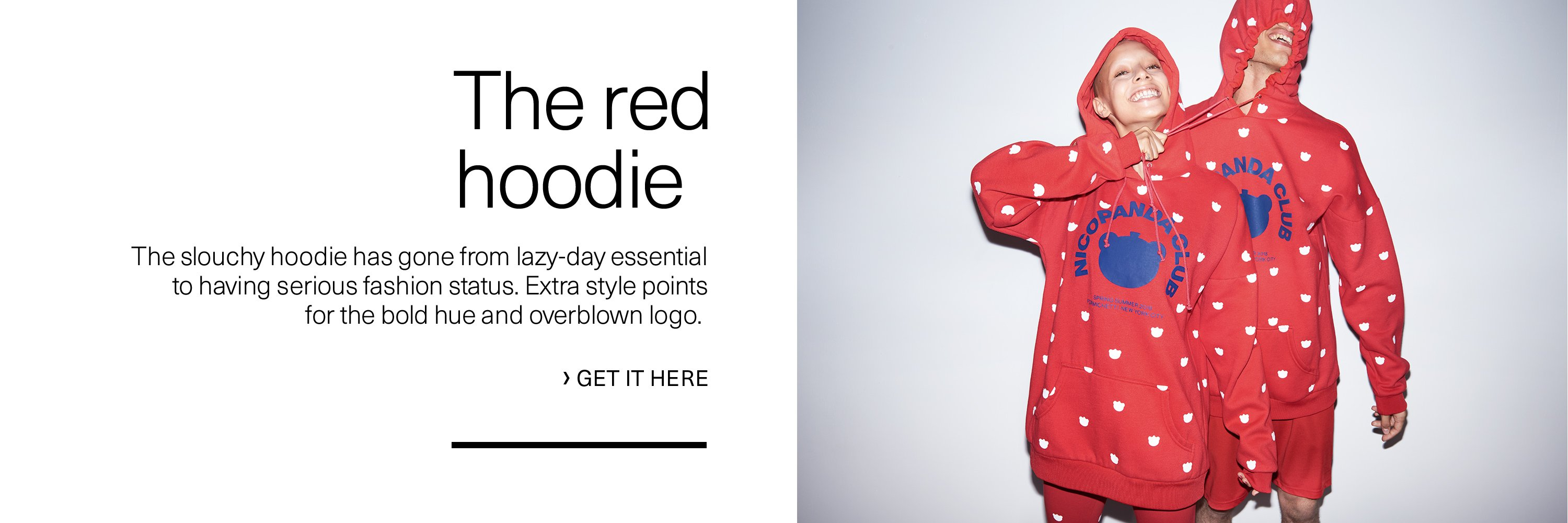 The red hoodie