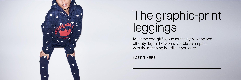 The graphic-print leggings