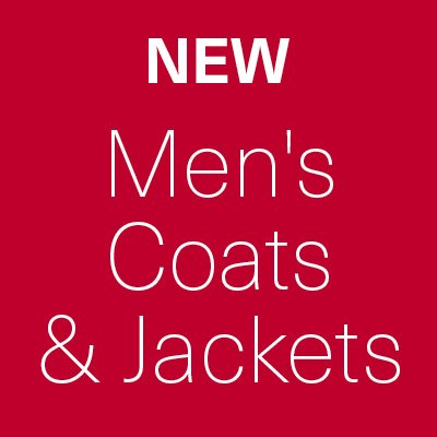 New Sale Lines Added - Men's Coats & Jackets