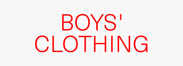 Up to 50% off boys' clothing
