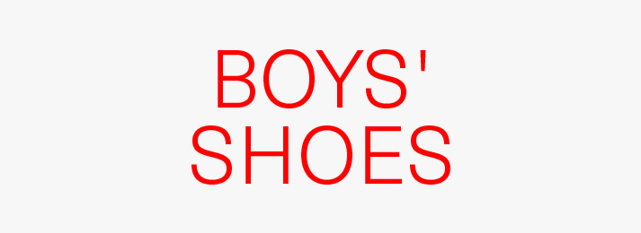 Up to 50% off boys' shoes
