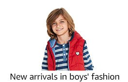 New arrivals in boys' fashion